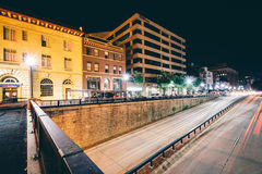 View of the Connecticut Avenue underpass at night, at Dupont Cir Royalty Free Stock Images
