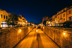 View of the Connecticut Avenue underpass at night, at Dupont Cir Stock Image