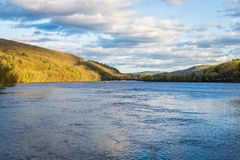View of the Connecticut River From Brattleboro Vermont State Lin Royalty Free Stock Photography