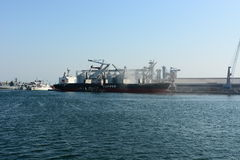 View of Constanta harbour Stock Images