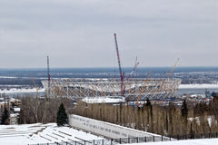 View of the construction of a new football stadium for the world Royalty Free Stock Images