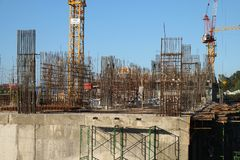 View of construction site stock photography