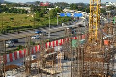 View of construction site royalty free stock photo