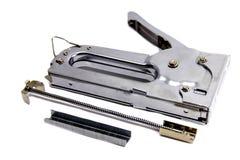 Construction steel stapler isolated on white background. View of Construction steel stapler isolated on white background royalty free stock photos