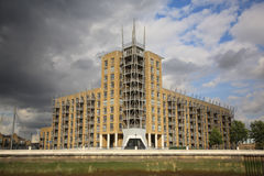 View of Contemporary Riverside Flats Stock Image