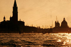 View a contrast sunset in Venice Stock Photos