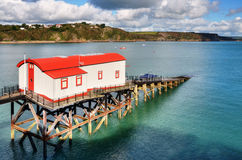 View of a converted lifeboat station, Tenby. Royalty Free Stock Photography