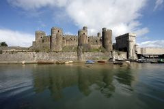 View of Conwy Castle Royalty Free Stock Images