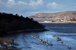 View from Conwy Castle to the estuary Royalty Free Stock Images