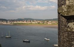 View from Conwy Castle, Wales Royalty Free Stock Photos