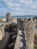 View on Conwy Castle, Wales Stock Image
