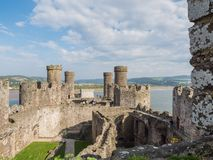 View on Conwy Castle, Wales Royalty Free Stock Images