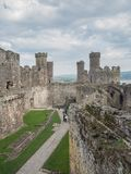 View on Conwy Castle, Wales Royalty Free Stock Photo