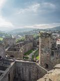 View on Conwy Castle, Wales Royalty Free Stock Photos