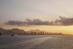 View of Copacabana bay, Rio de Janeiro, Brazil stock photo