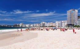 View of Copacabana beach in Rio de Janeiro Royalty Free Stock Images