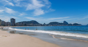 View of Copacabana beach and Sugar Loaf in Rio de Janeiro Royalty Free Stock Images
