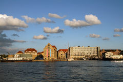 View of Copenhagen. Skyline of Copenhagen, view from Nyhavn royalty free stock images
