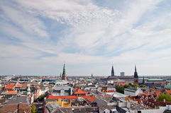 View of the Copenhagen. Copenhagen with a bird's-eye view Royalty Free Stock Images