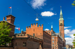 View of Copenhagen city hall Royalty Free Stock Photos