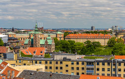 View of Copenhagen from The Round Tower Stock Photos
