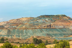 View of copper mine in Troodos mountains Cyprus Royalty Free Stock Photos