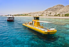 View on coral reef near Eilat, Israel Stock Image