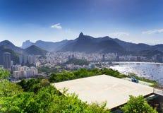 View of Corcovado and Botafogo in Rio de Janeiro Stock Images