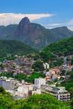 View of Corcovado, favela Babilonia near Copacabana in Rio de Janeiro Stock Photography