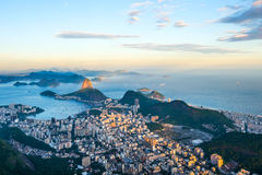 View from Corcovado to Sugarloaf Mountain Stock Photography