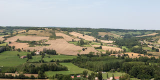 View from Cordes-sur-Ciel Stock Photo