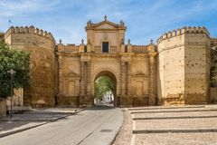 View at the Cordoba gate in Carmona, Spain. View at the Cordoba gate in Carmona - Spain Royalty Free Stock Photo