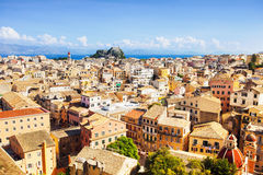 View of the Corfu town, Greece. Beautiful top view of the Corfu town, Greek island Stock Photography
