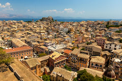 View of the Corfu town. Kerkyra Stock Photo