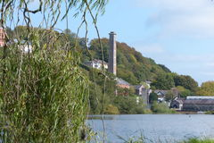 View Cork city River Lee Old Buidling. S along the river Ireland Stock Photo