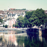 View on the Cork city - vintage effect. Royalty Free Stock Photography