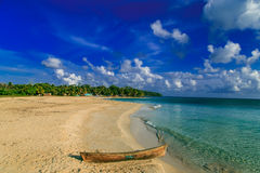 View of corn island beach from Nicaragua Royalty Free Stock Photography