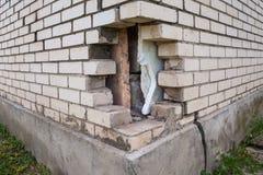 Broken brickwork Stock Photos