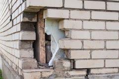 Broken brickwork Royalty Free Stock Photography