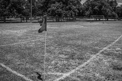 A View Of A Corner Kick stock photography