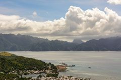 View of Coron town and the Coron island, Philippines Stock Photos