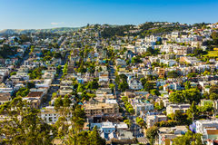 View from Corona Heights Park, in San Francisco  Stock Photo