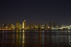 San Diego, California Skyline at night Royalty Free Stock Photography