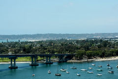 View of Coronado from San Diego Bay Bridge Royalty Free Stock Image