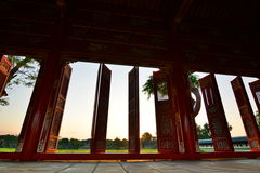 View from the corridor. Imperial City. Hué. Vietnam Royalty Free Stock Photo