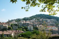 View of the Corsican town of Sartene Royalty Free Stock Photos