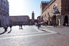 View of Corso di Porta Reno and Piazza Trento e Trieste, Town Ha Stock Photos
