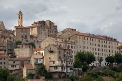 View of Corte, Corsica Royalty Free Stock Photos