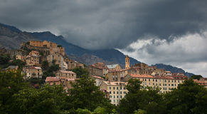 View of Corte, Corsica Royalty Free Stock Photo