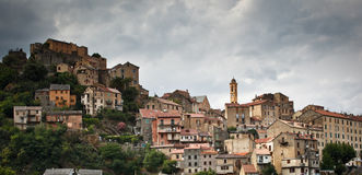 View of Corte, Corsica Royalty Free Stock Images